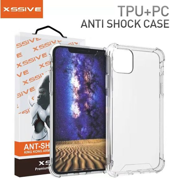 Xssive TPU Anti Shock Back Cover Case voor Apple iPhone 11 (6.1 inch) - Transparant