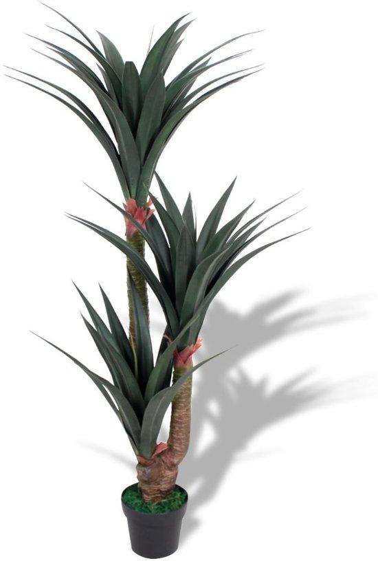 Bolcom Vidaxl Kunst Yucca Plant Met Pot 155 Cm Groen
