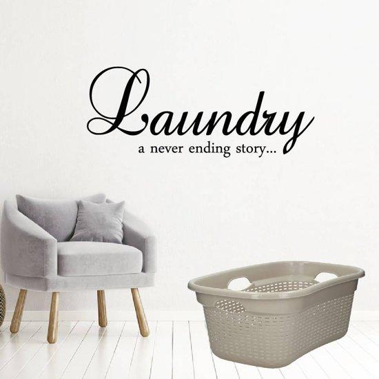 Laundry A Never Ending Story -  Groen -  160 x 64 cm  - Muursticker4Sale