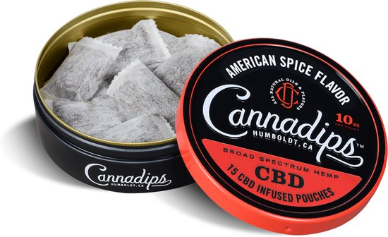 Cannadips CBD olie 16% Full American Flavor 10 mg - 15 pouches