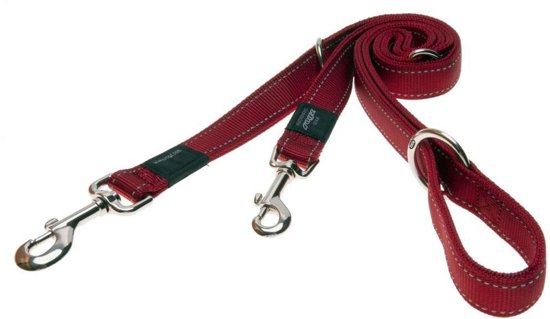 Rogz For Dogs Fanbelt Multipurpose Hondenriem - Rood - 20mm x1.6mtr