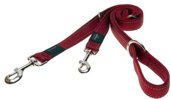 Rogz For Dogs Fanbelt Multipurpose Hondenriem - Rood - 20mm x1.6mtr