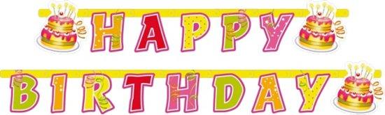 Amscan 'Happy Birthday' verjaardag slinger - 1,90 meter Valentinaa