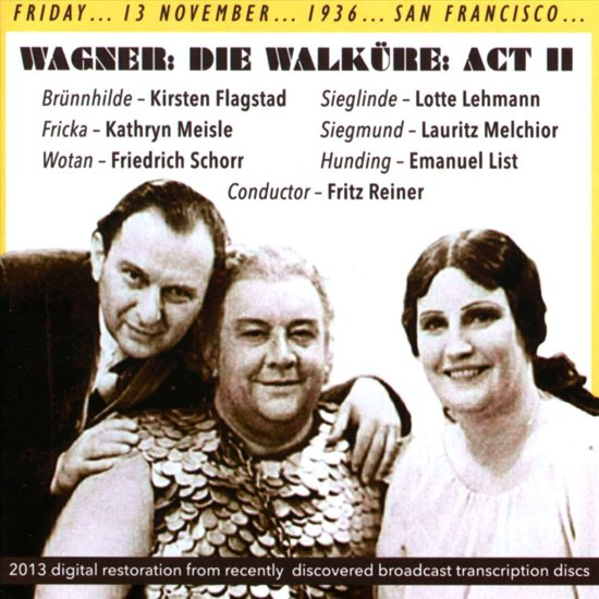Die Walkure Act 2. Reiner 1936
