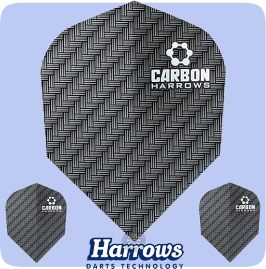 Dragon darts - 10 sets (30 stuks) - Carbon - darts flights - zwart - extra stevige - dart flights