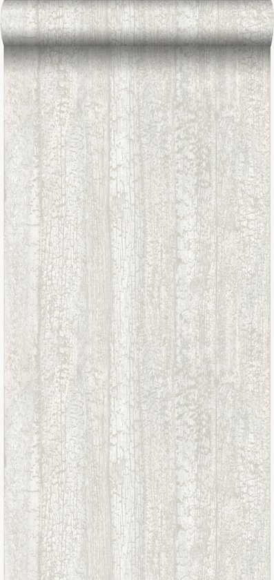 Origin behang houtmotief beige - 347528