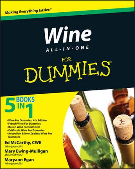 Bol Com Wine All In One For Dummies Ed Mccarthy 9780470476260