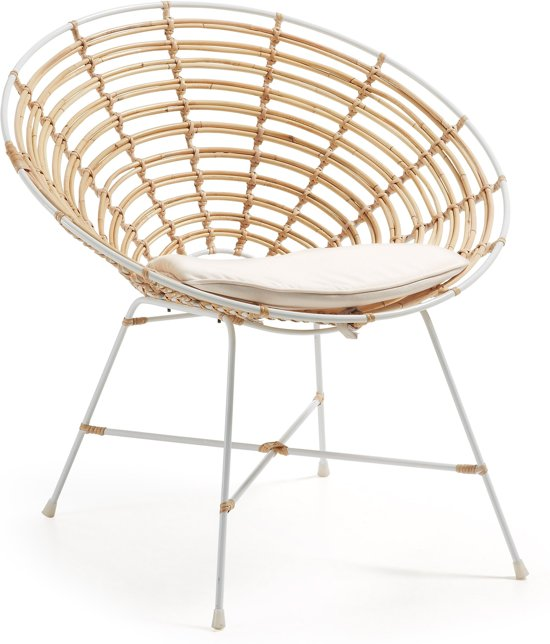 Rotan Fauteuil Wit.Kave Home Rotan Fauteuil Kartell Wit