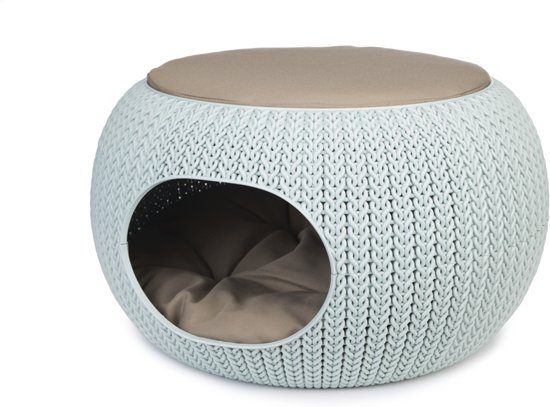 Curver Cozy Pet Home - Kattenmand - Lichtblauw - Ø 55 cm