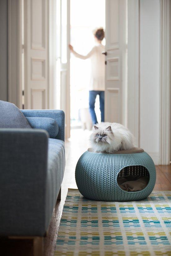 Curver Cozy Pet Home Kattenmand - Ø 55 cm - Lichtblauw