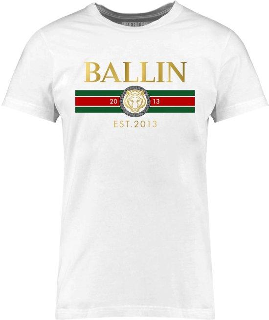 Ballin Est. 2013 - Heren Tee SS Line Small Shirt - Wit - Maat M