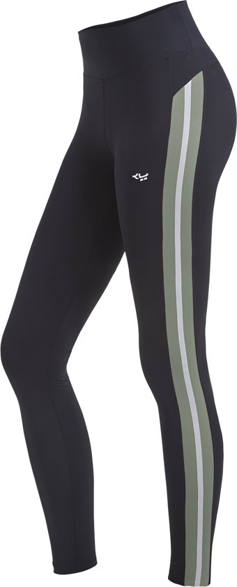 Röhnisch Shape Stripe Sportlegging Dames - Combat Green - Maat M