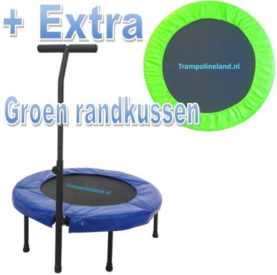 Trampolineland Deluxe trampoline met beugel 96 cm Groen