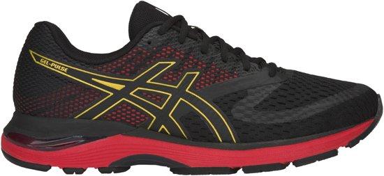 Asics Gel-Pulse 10 Hardloop Sportschoenen - Maat 43.5 - Mannen - zwart/goud/rood