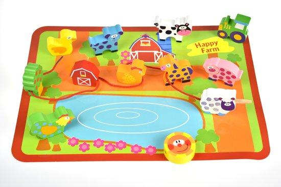 Afbeelding van Houten Dieren lacing beads  van het merk Tooky toy speelgoed