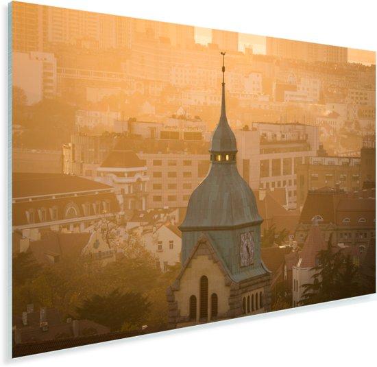 De koepel en klok van de Duitse protestantse kerk in Qingdao Plexiglas 30x20 cm - klein - Foto print op Glas (Plexiglas wanddecoratie)