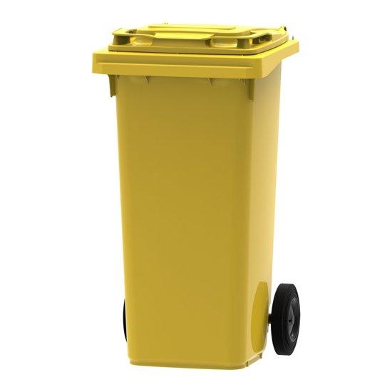 Afvalcontainer / Kliko / Mini Container kunststof 120 Liter Geel