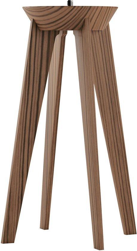 Lucis™ Quadpod Lampenvoet - Accessoire Lucis Lamp - Zebrano Wood