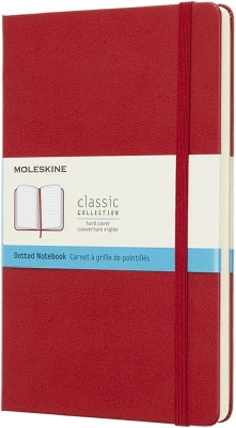 Moleskine classic notitieboek rood - Large - Hard cover - Gestippeld