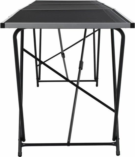 vidaXL Behangtafel aluminium en staal