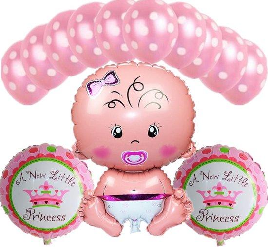 Babyshower Versiering Pakket Baby Shower Folie Ballonen Set Geboorte Feest Cadeau Meisje