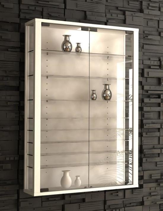 bol.com | Vitrinekast wandvitrine Vitrosa Mini met LED verlichting (wit)