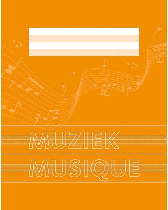 Muziekschrift A5 36 blz. Notenbalk en gelineerd 10 stuks