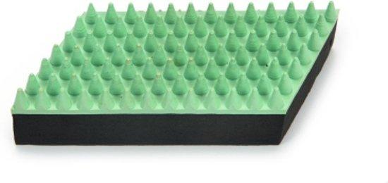 Beeztees rubber massageborstel klein. Mint. 13 cm.