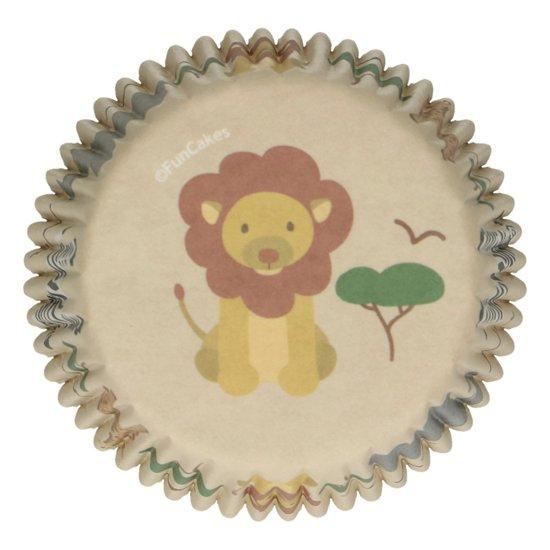 FunCakes Cupcake Vormpjes Muffin Vormpjes Papier Safari Dieren pk/48