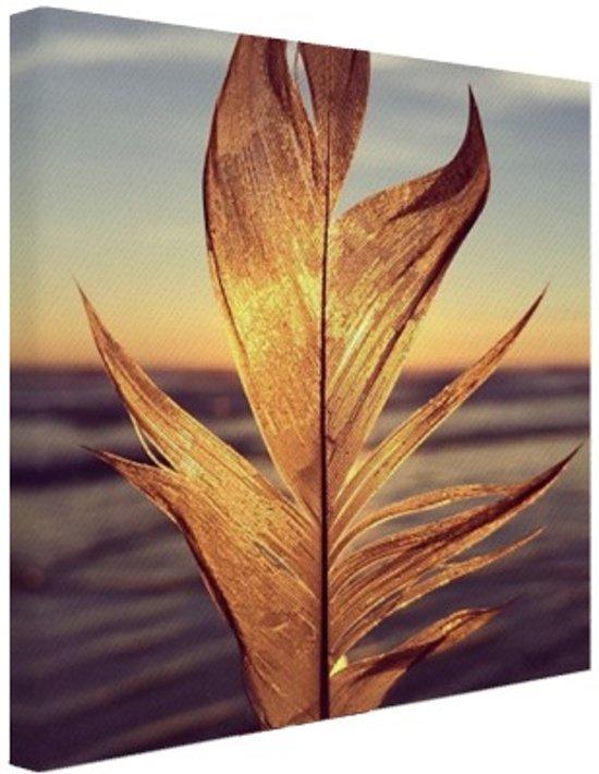 Veer bij zonsondergang foto Canvas 20x20 cm - Foto print op Canvas schilderij (Wanddecoratie)