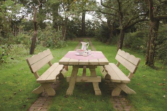 MaximaVida houten tuinbank landelijke stijl 200 cm- 60 mm houtdikte