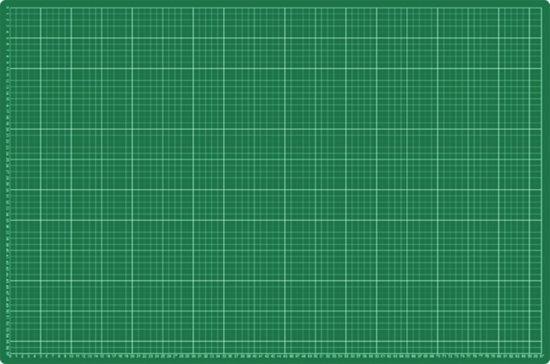 EXXO #10090 - A1 Snijmat; 5-laags zelfhelend; 2-zijdige rasterdruk; 60x90cm