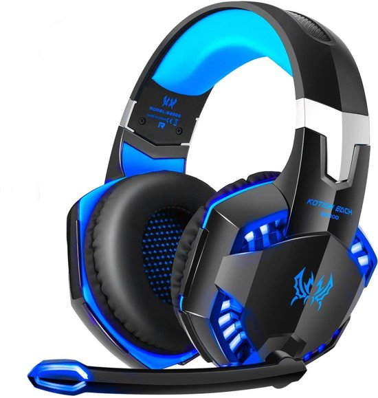 Cover van de game KOTION EACH G2000 - Gaming Headset - PS4 + PC - Zwart-Blauw