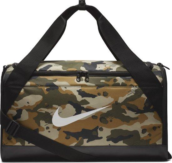 Nike Nk Brsla S Duff - Aop Sporttas Unisex - Neutral Olive/Black/White