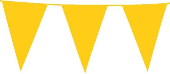 plastic reuze vlaggenlijn -  geel -  (10 m)
