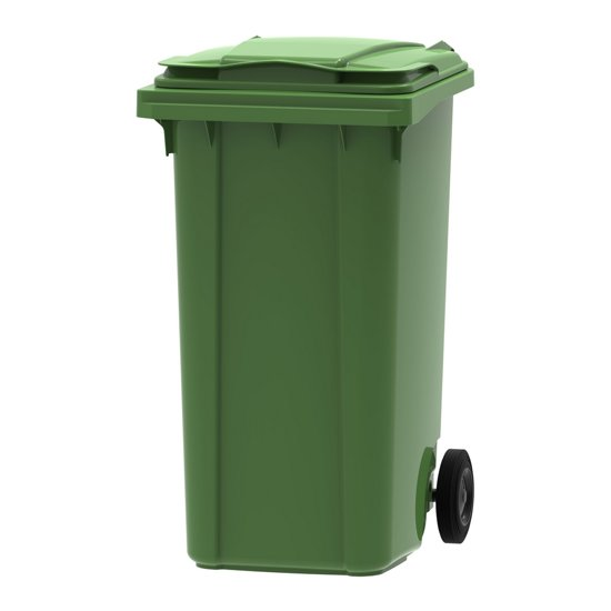 Kunststof Rolcontainer Afvalcontainer Mini-container 240 Liter Groen