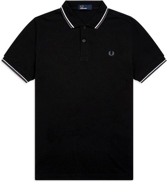 Fred Perry Shirt - Maat S  - Mannen - zwart/wit