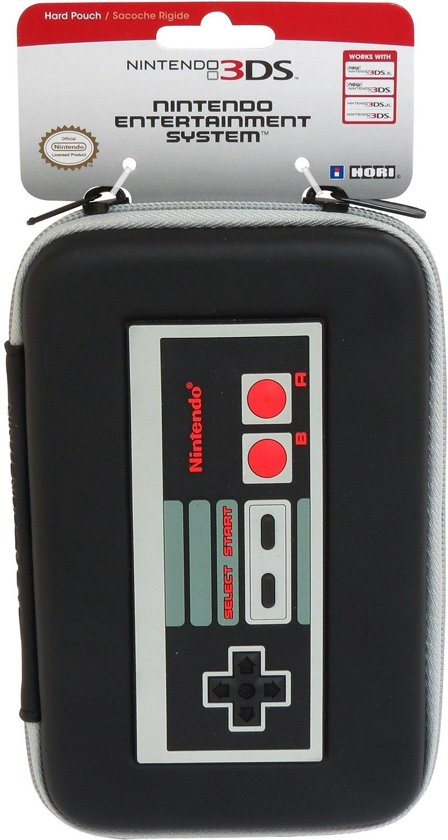 Hori NEW Nintendo 3DS Retro NES Design Harde Beschermhoes - New 3DS XL Zwart