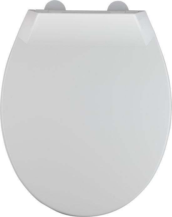 Allibert wc-bril MILA - thermoplastiek - soft close - inox scharnieren - afklikbaar - wit