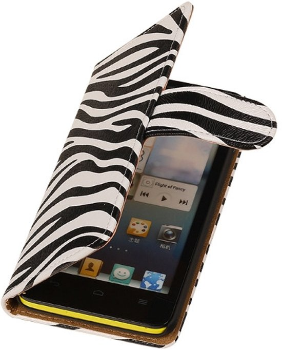 Alternate Bookcase Zebra Flip Wallet Cover Cover Huawei Ascend Y330 in Hazerswoude
