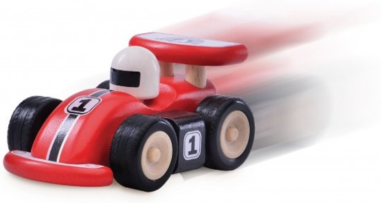Houten raceauto van Wonderworld