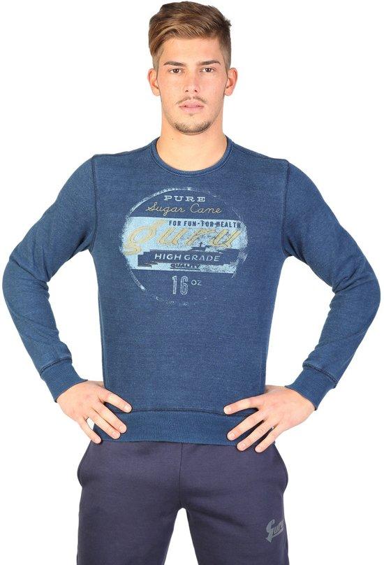 Guru Fleece - Sweater  Sportrui - Blauw - Heren  | Maat L