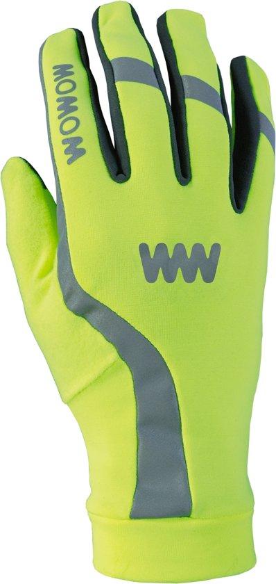 Wowow Dark Gloves 3.0 - handschoenen Fluogeel Small
