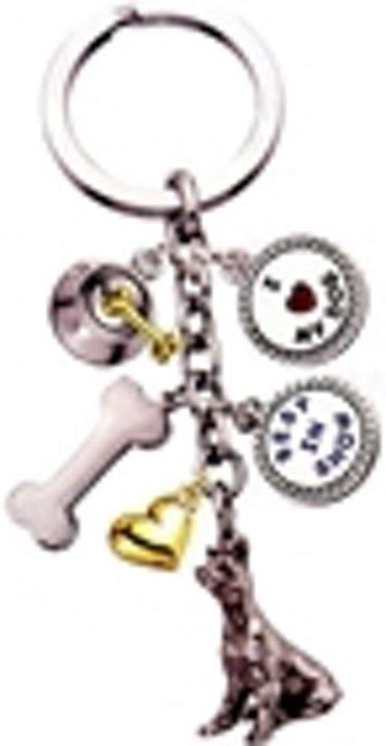 Little Gifts sleutelhanger Doberman Pinscher zilverkleurig