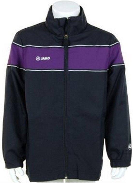 Jako Woven Jacket Player Junior - Sportshirt - Kinderen - Maat 164 - Dark Navy;Purple