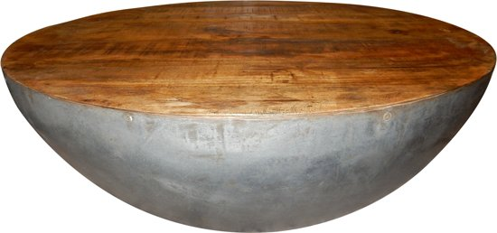 Salontafel Blank Hout.Salontafel Table Bowl Nature 90 Cm Metal Blank Hout