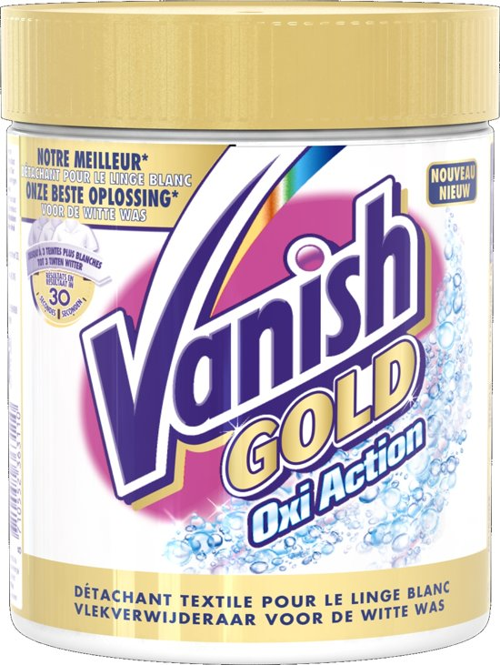 Vanish Oxi Action Crystal White Poeder Witte Was - 470 gram - Vlekverwijderaar