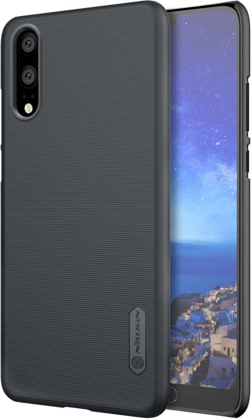 Nillkin Super Frosted Shield Backcover voor de Huawei P20 - Black