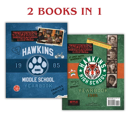 Boek cover Hawkins Middle School Yearbook/Hawkins High School Yearbook (Stranger Things) van Matthew J Gilbert (Hardcover)