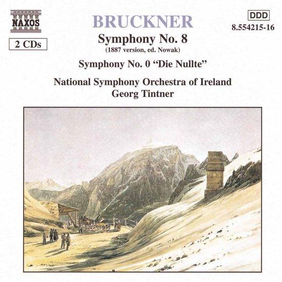 """Bruckner: Symphonies no 8 & """"0"""" / George Tintner, et al"""
